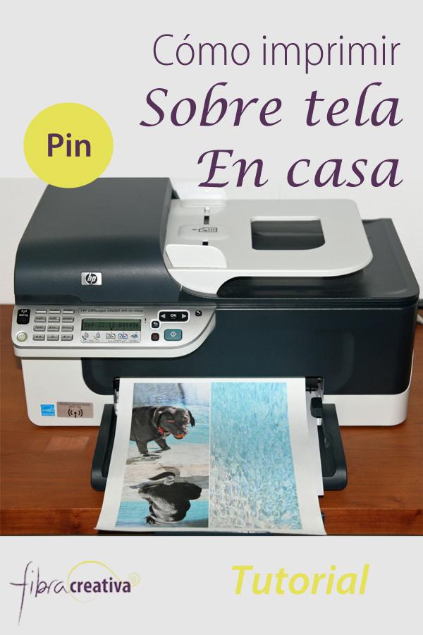 tutorial cómo imprimir sobre tela en casa