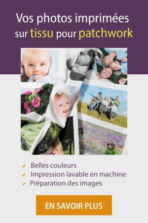 service d'impresson de photos sur tissu pour patchwork