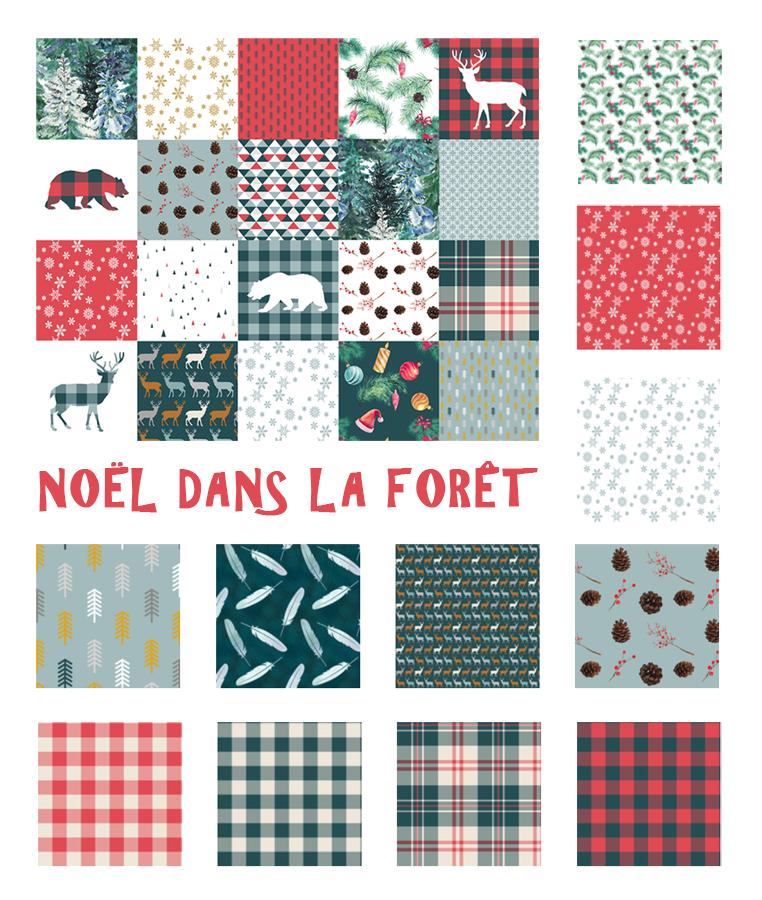 colección de telas navideñas patchwork y costura Navidad en la selva de Fibra Creativa