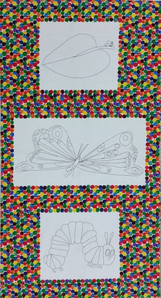 The Very Hungry Caterpillar Colouring Panel
