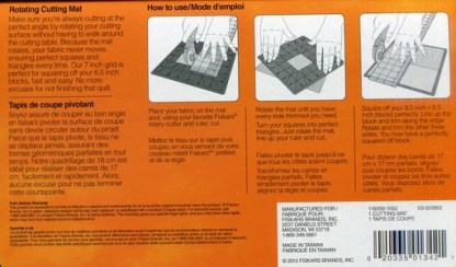 Information on Fiskars 8 Inch Rotating Cutting Mat