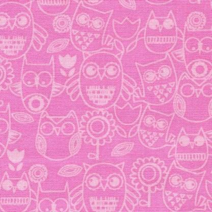 Wings n Things Tonal Owls - Pink 3097-22