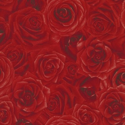 Packed Roses - Red C5046-Red