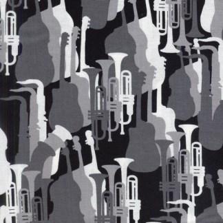 Jazz Silhouettes - Grey 08140-11