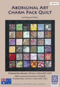 Alternate layout in the Aboriginal Art Charm Pack Quilt Pattern