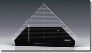 "Westalee 12"" Setting Triangle Ruler with Adjustable Locking Fabric Guide"