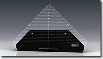 """Westalee 12"""" Setting Triangle Ruler with Adjustable Locking Fabric Guide"""