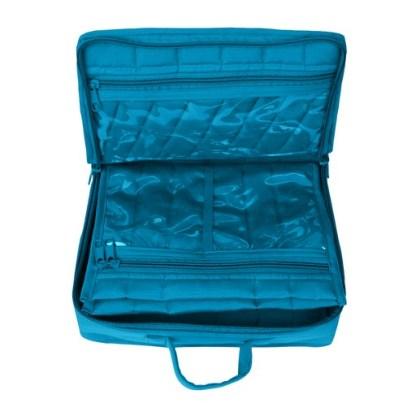 Mini Organizer - Large (Aqua). Open bag image.