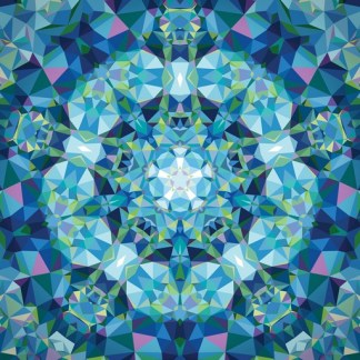 Gradients Kaleidoscope Panel - Blue