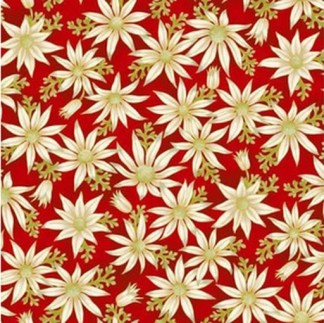 Flannel Flowers - Red 0015-1