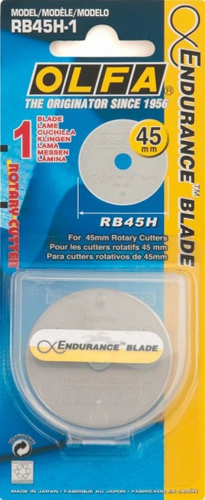 45mm Olfa Rotary Cutter Endurance Replacement Blade