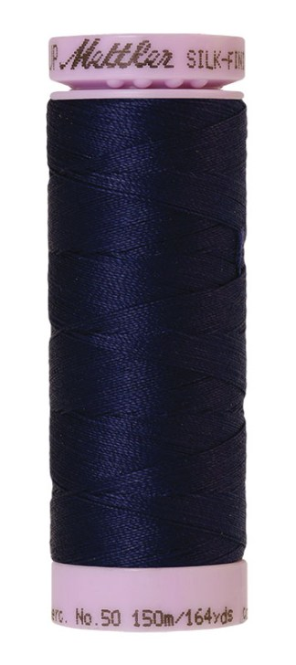 Mettler Silk-finish Cotton 50W 0016 Dark Indigo 150m Spool