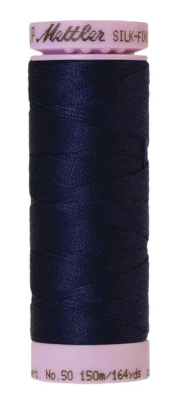 Mettler Silk-finish Cotton 50W 0016 Dark Indigo 150m Spool