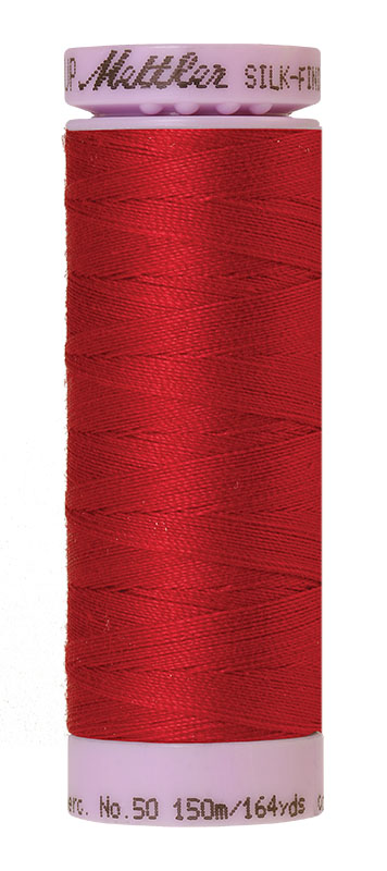 Mettler Silk-finish Cotton 50W 0504 Country Red 150m Spool