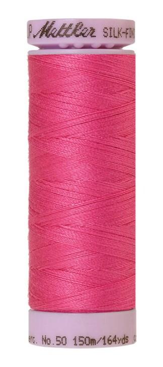 Mettler Silk-finish Cotton 50W 1423 Hot Pink 150m Spool