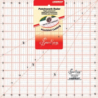 """Sew Easy Patchwork Ruler 12 ½"""" x 12 ½"""""""