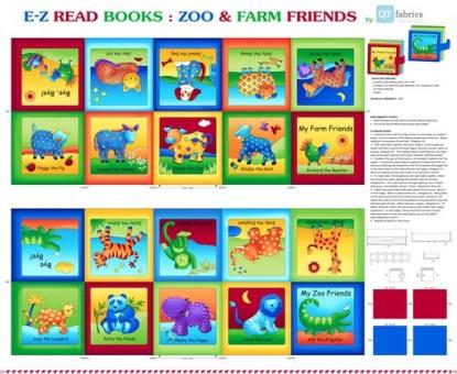 EZ-READ BOOK: ZOO & FARM FRIENDS PANEL