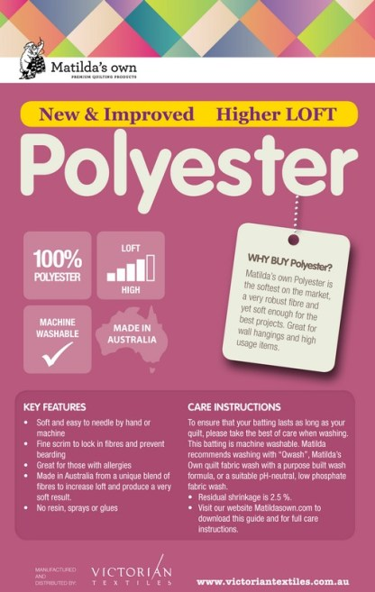 Polyester Wadding Information