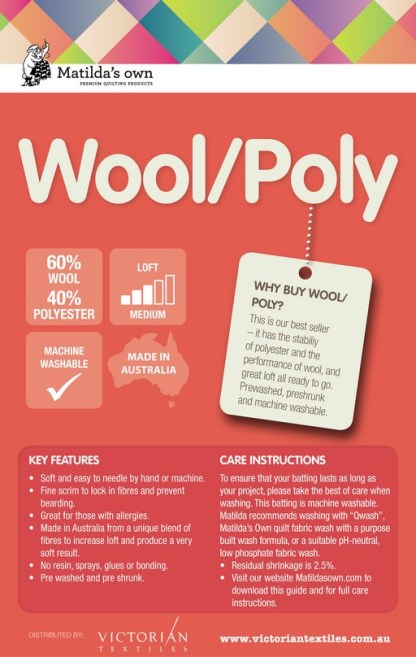 Wool and Polyester Wadding Information