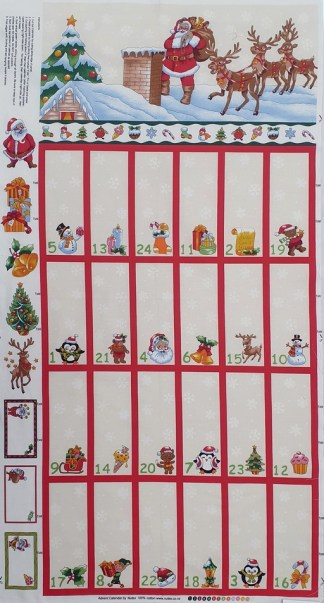 Folded Advent Calendar - Cream 89280-102