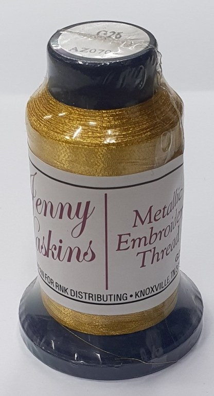 Jenny Haskins Metallic Embroidery Thread - Bright Gold