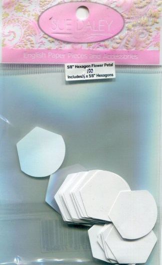"⅝"" Hexagon Flower Petal Papers (100 papers per packet)"