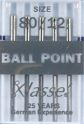 Klasse Ball Point Machine Needles 80 / 12