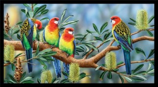Wildlife Art 4 Panel DV3701