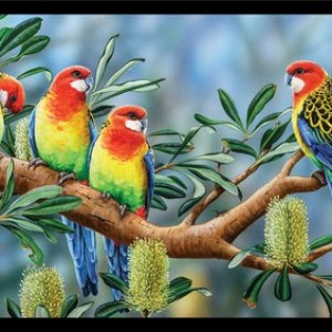 Wildlife Art 4 Panel DV3701