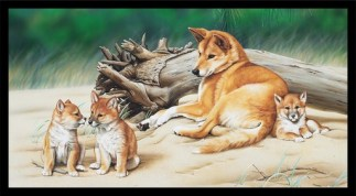 Wildlife Art 4 Panel DV3704