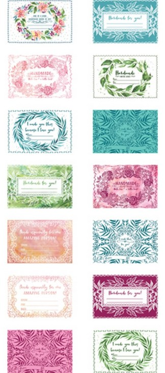 Moody Bloom Quilt Labels Panel MD845111