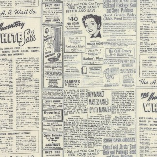 Modern Background Paper 1582-15 Black and Eggshell