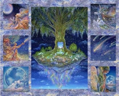 Celestial Journey Tree Panel 17130-MLT-CTN-D