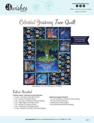 Celestial Journey Tree Quilt - Free Pattern