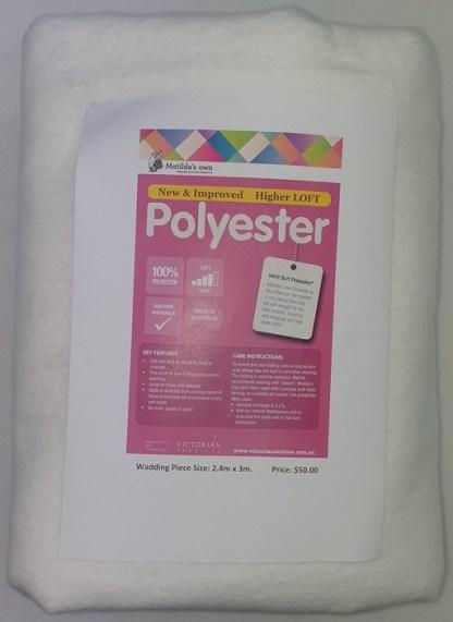 3 metres of Polyester Wadding - White