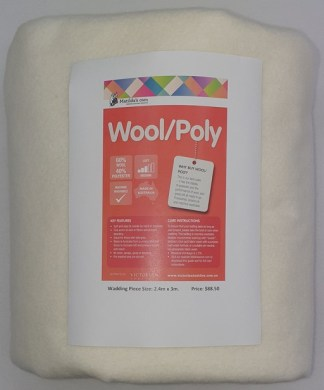 3 metres of Wool and Poly Wadding - Cream