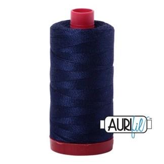 Aurifil 12wt Cotton Mako' 325m Spool - 2745 - Midnight