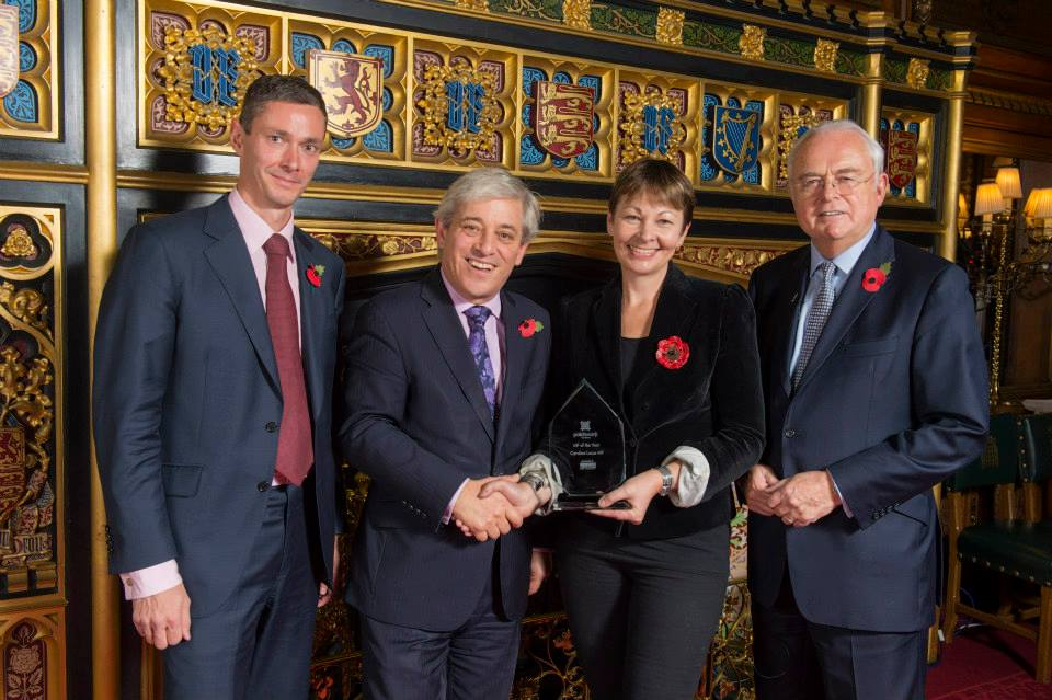 Caroline Lucas – MP of the Year 2014