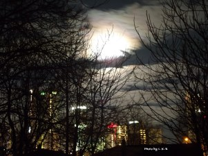Moon over Niagara Skyline