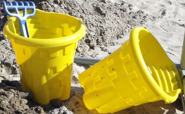 yellow buckets