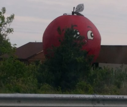 1. The BIG apple just off the highway on the way to Belleville, Ontario
