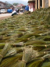 A local grass, dried and used to make brooms
