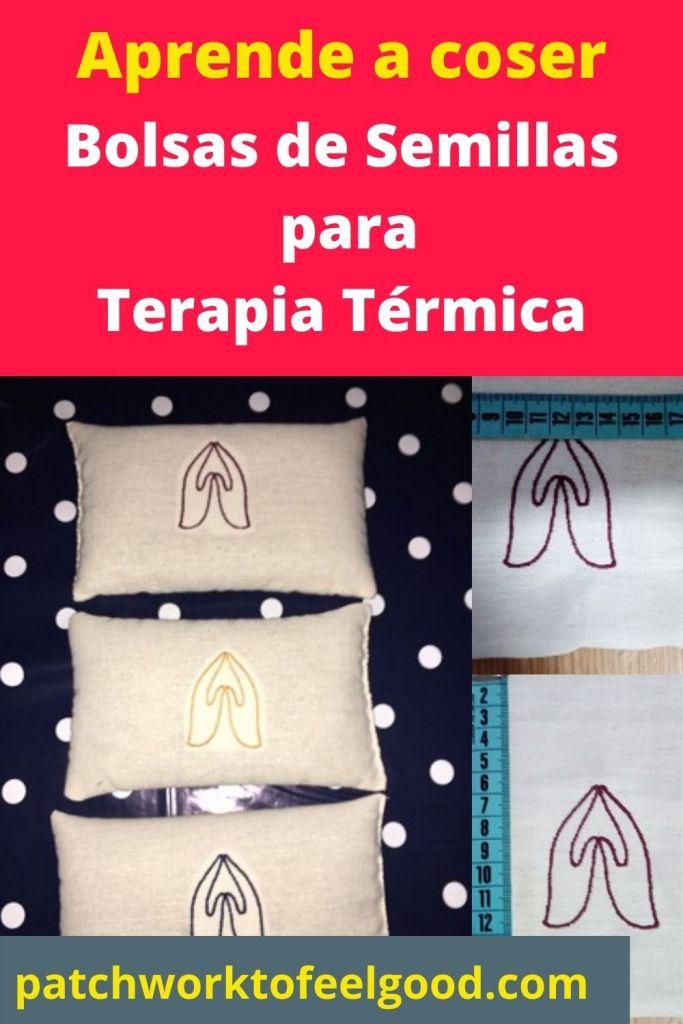 Como coser una bolsa de semillas para terapia térmica