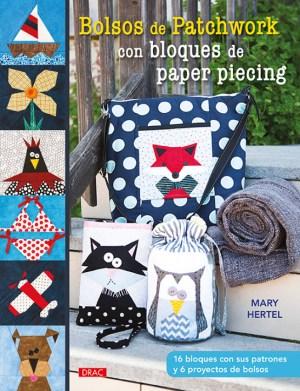Cubierta Bolsos de patchwork con bloques de paper piecing