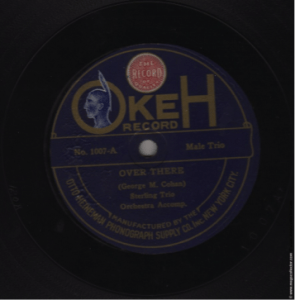 ecord Label: Pre-1920s. Note the Indian Head inside the Okeh label