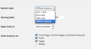 Button Display Options