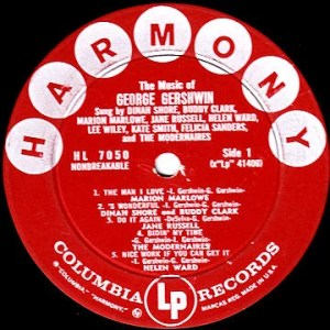 Harmony LP 1957 Record