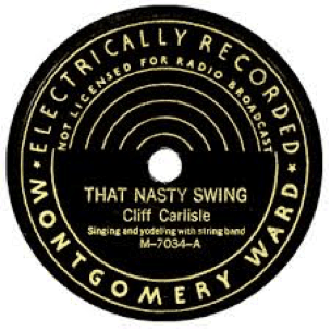 Record Label: Pre-WW2. Black or dark blue coloring always with gold. Note the design of semi-circles.