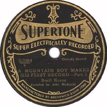 Supertone Record Label by Brunswick Radio. Produced in mid-1931.