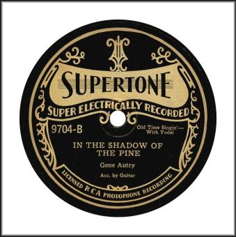 Supertone Record gene-autry